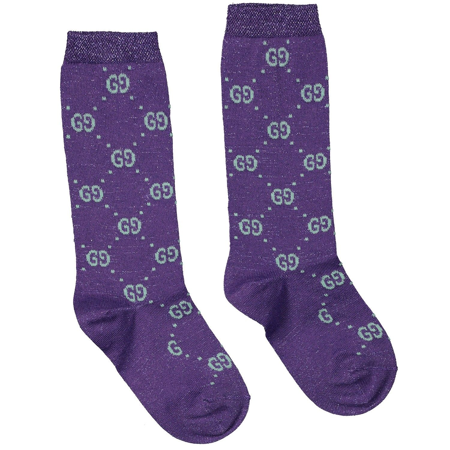 Picture of Gucci 480715 kids socks purple