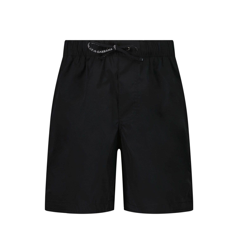 Picture of Dolce & Gabbana L1J818 G7YHP baby swimwear black