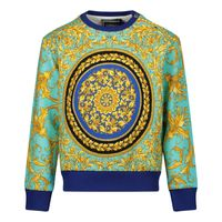 Picture of Versace YB000075 baby sweater blue
