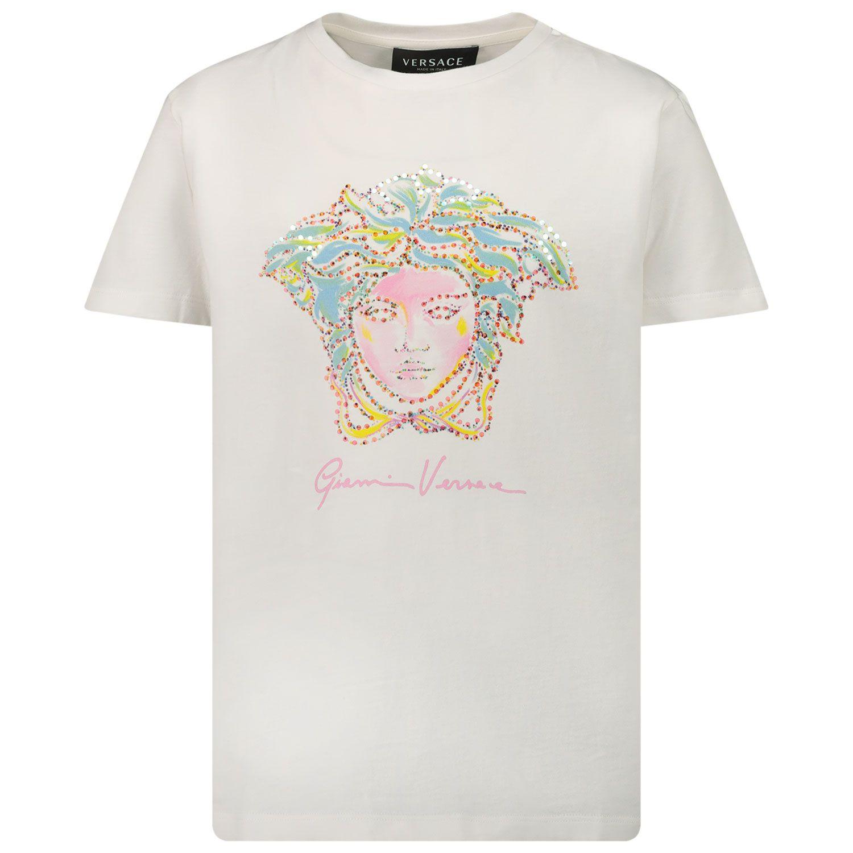 Afbeelding van Versace 1000052 1A00060 kinder t-shirt wit