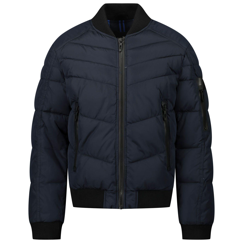 Picture of Antony Morato MKCO00218 kids jacket navy