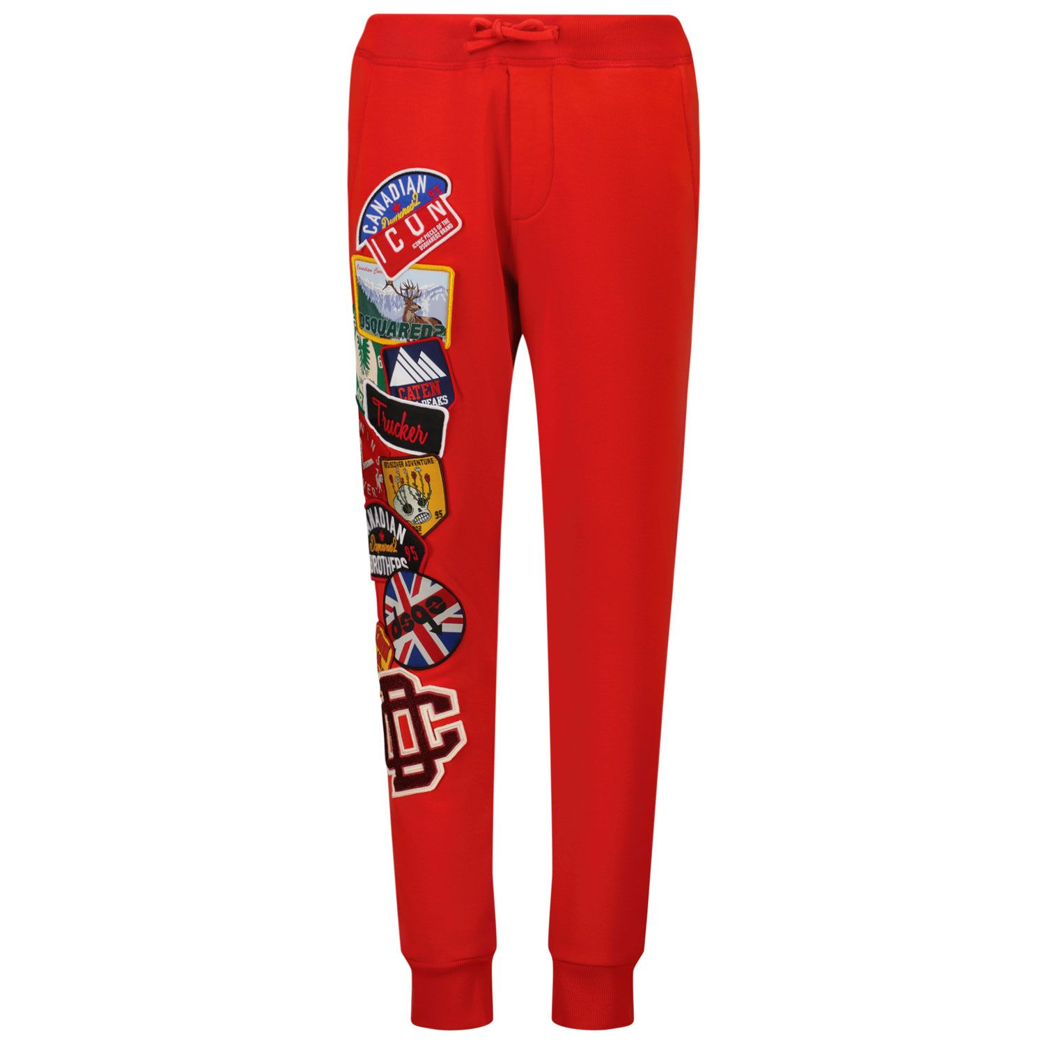 Picture of Dsquared2 DQ0338 kids jeans red