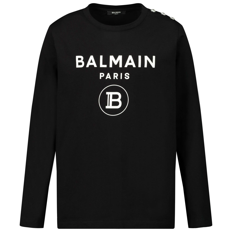 Picture of Balmain 6N8100 kids t-shirt black