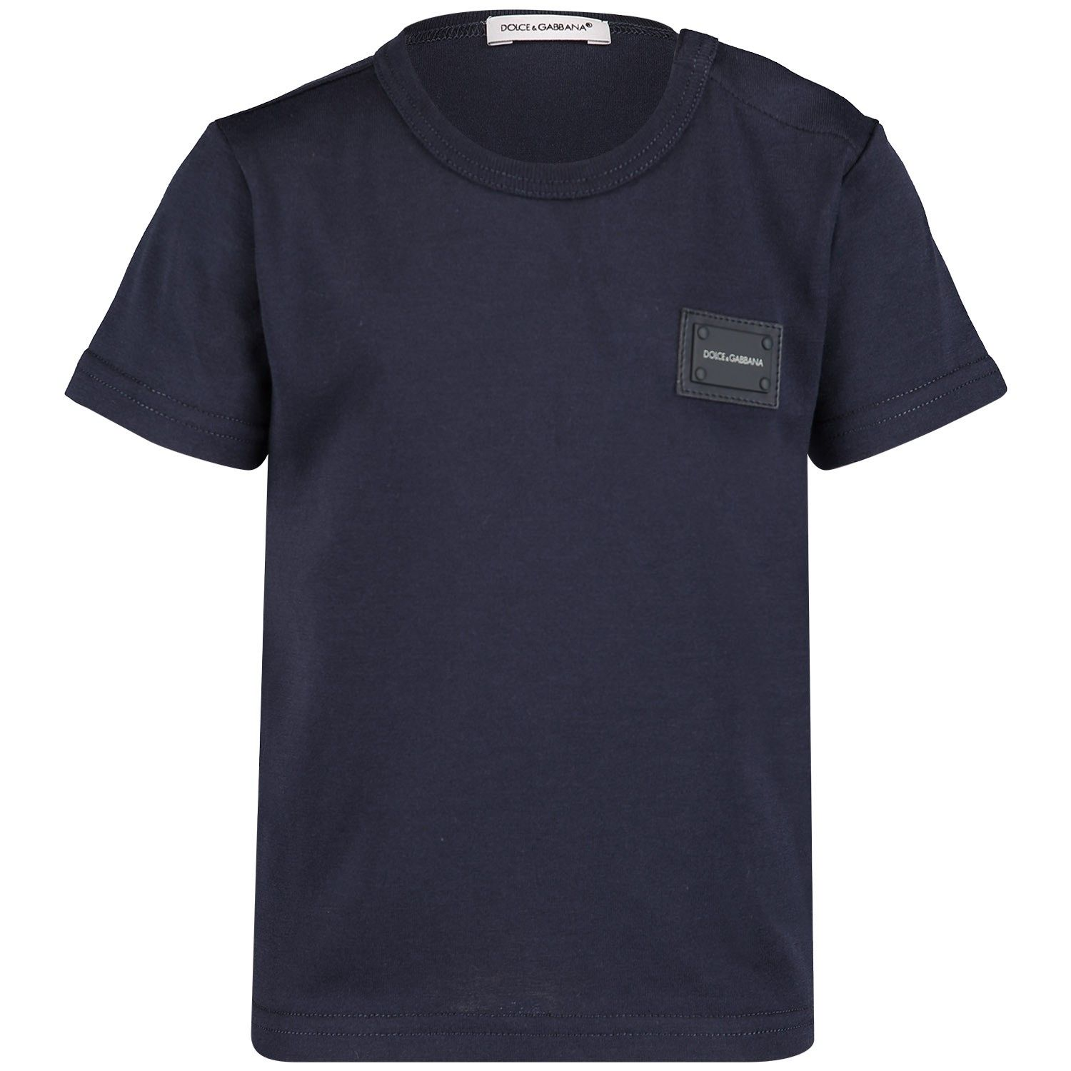 Picture of Dolce & Gabbana L1JT7T baby shirt navy