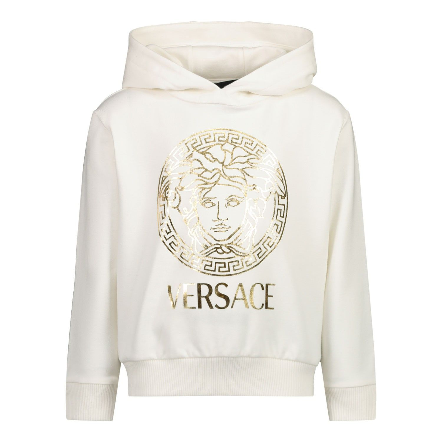 Picture of Versace YB000201 baby sweater off white