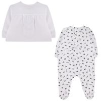 Picture of Karl Lagerfeld Z98067 baby playsuit white