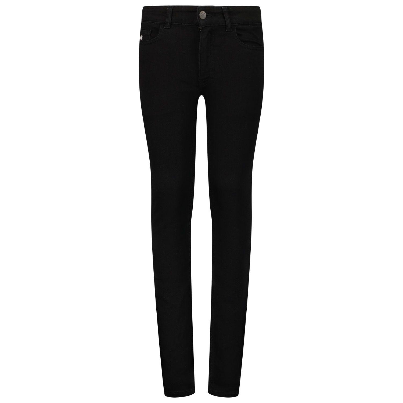 Picture of Calvin Klein IB0IB007661 kids jeans black