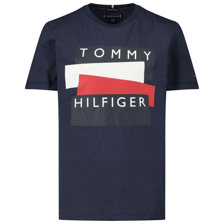 Picture of Tommy Hilfiger KB0KB05849 kids t-shirt navy