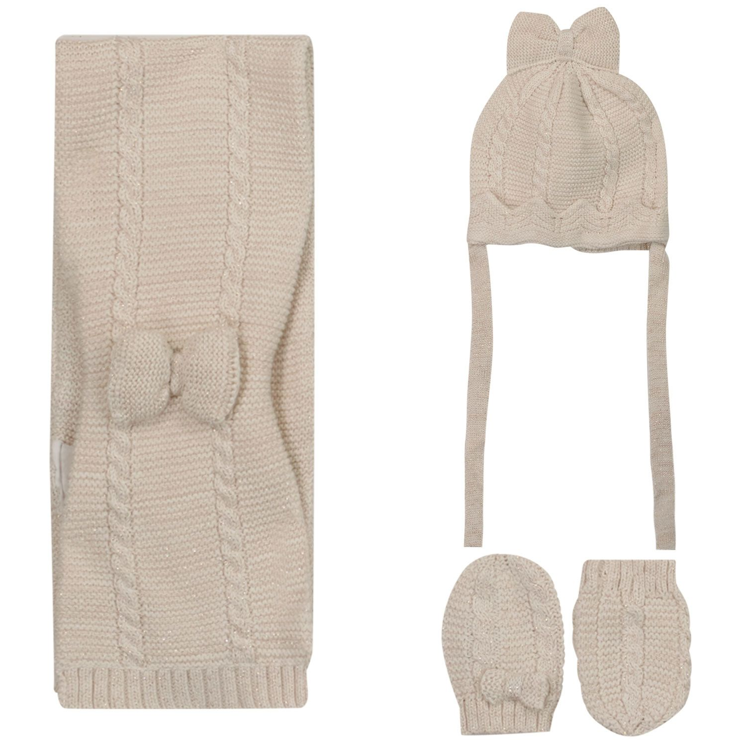 Picture of Mayoral 9430 baby hat beige