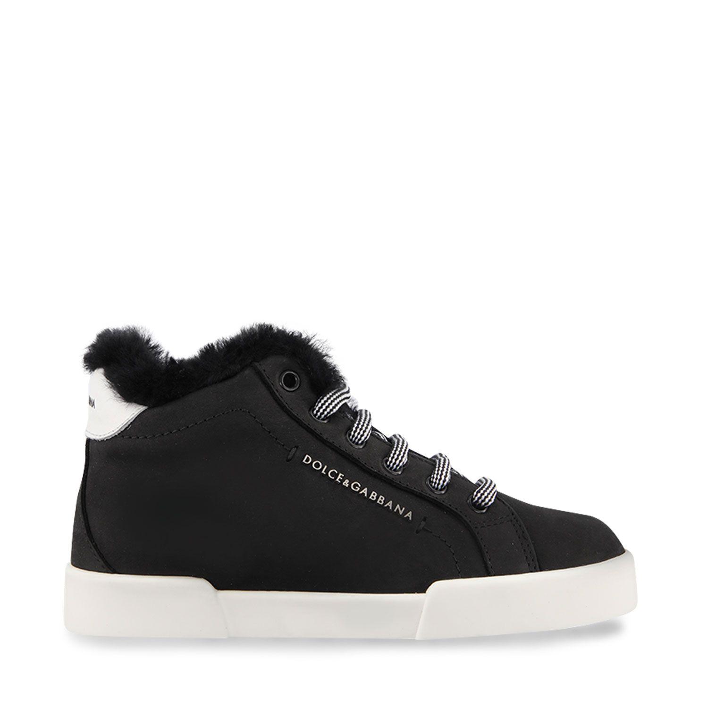 Afbeelding van Dolce & Gabbana DA0921 A6B35 kindersneakers zwart
