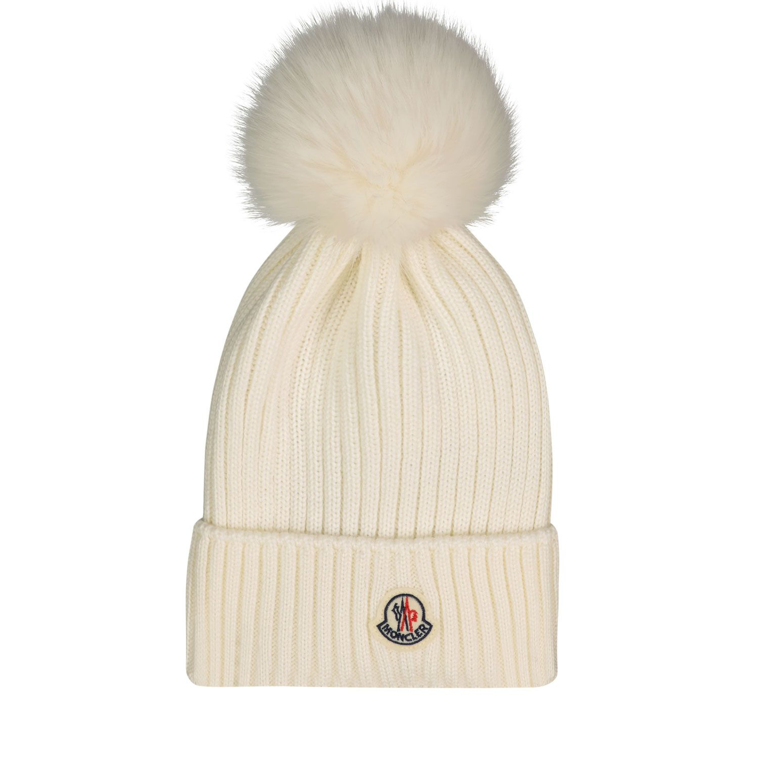 Picture of Moncler 3B72610 kids hat off white