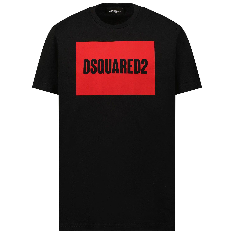 Afbeelding van Dsquared2 DQ0522 kinder t-shirt zwart