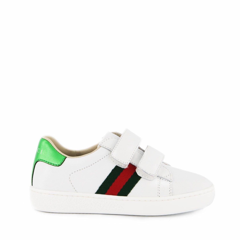 Afbeelding van Gucci 455496 kindersneakers wit