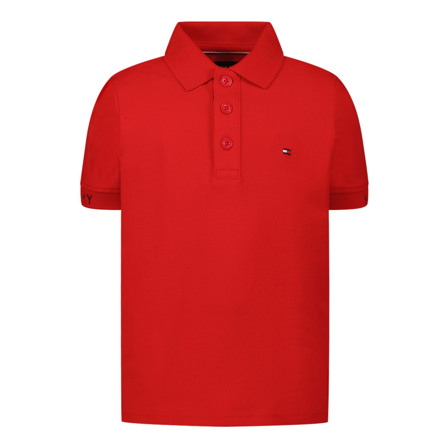 Picture of Tommy Hilfiger KB0KB06538B baby poloshirt red