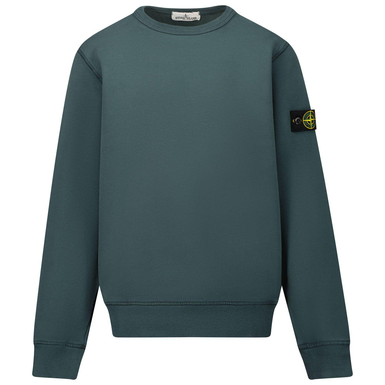 Picture of Stone Island 61340 kids sweater dark green