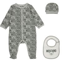 Picture of Moschino MUY03B baby playsuit grey