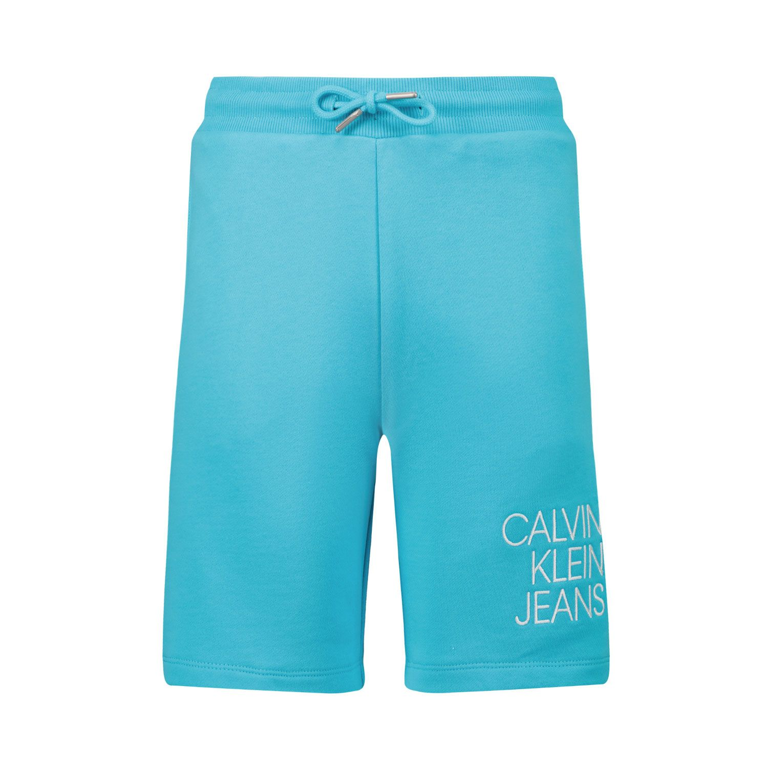 Picture of Calvin Klein IB0IB00798 kids shorts turquoise