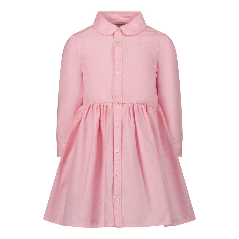 Picture of Ralph Lauren 756657 baby dress pink