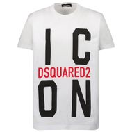 Afbeelding van Dsquared2 DQ0243 kinder t-shirt wit