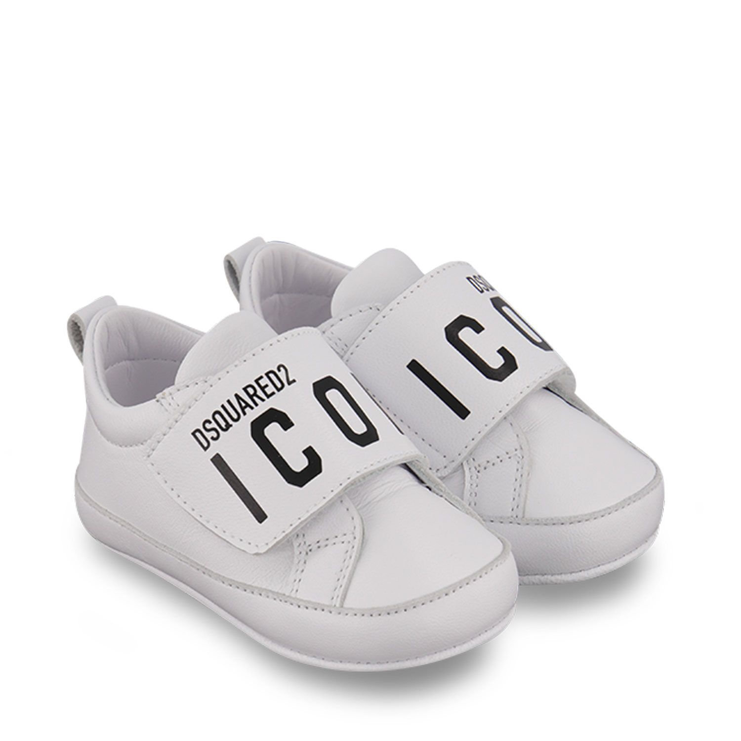 Picture of Dsquared2 68631 baby sneakers white