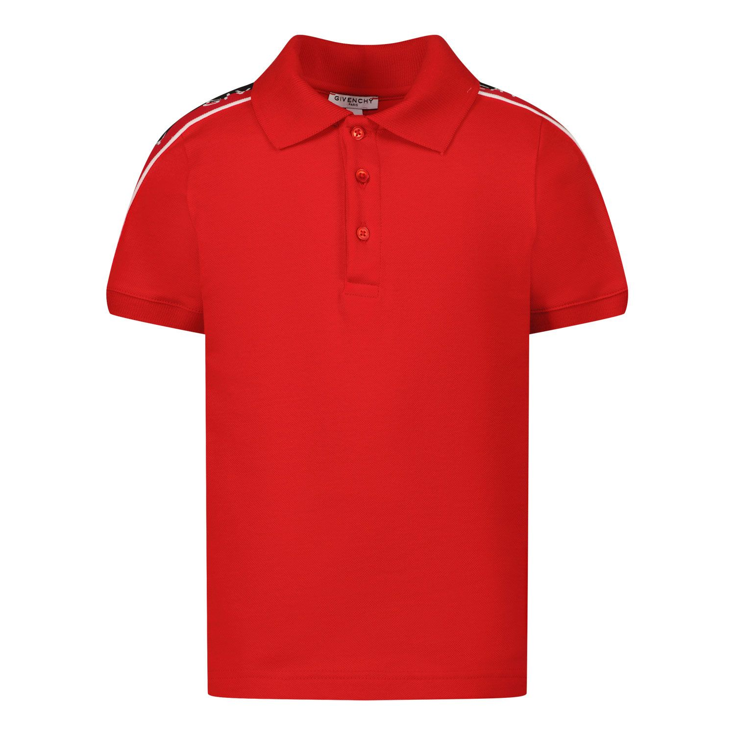Picture of Givenchy H05160 baby poloshirt red