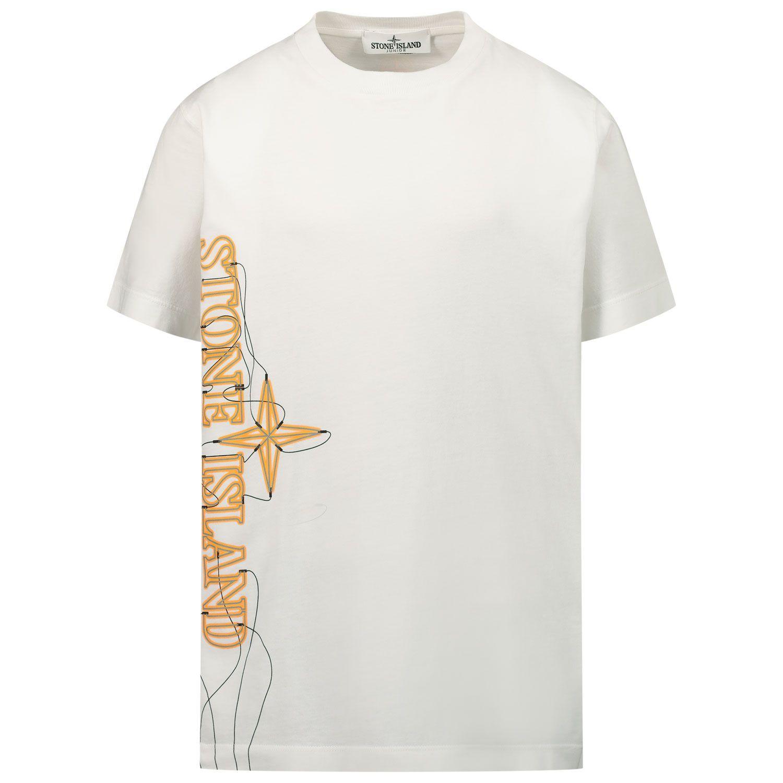 Afbeelding van Stone Island 21059 kinder t-shirt wit