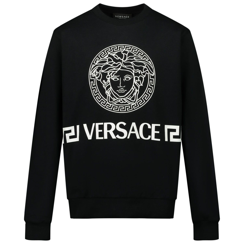 Afbeelding van Versace 1000132 1A00175 kindertrui zwart