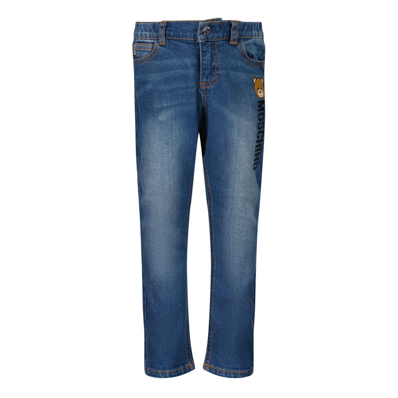 Afbeelding van Moschino MNP038 babybroekje jeans