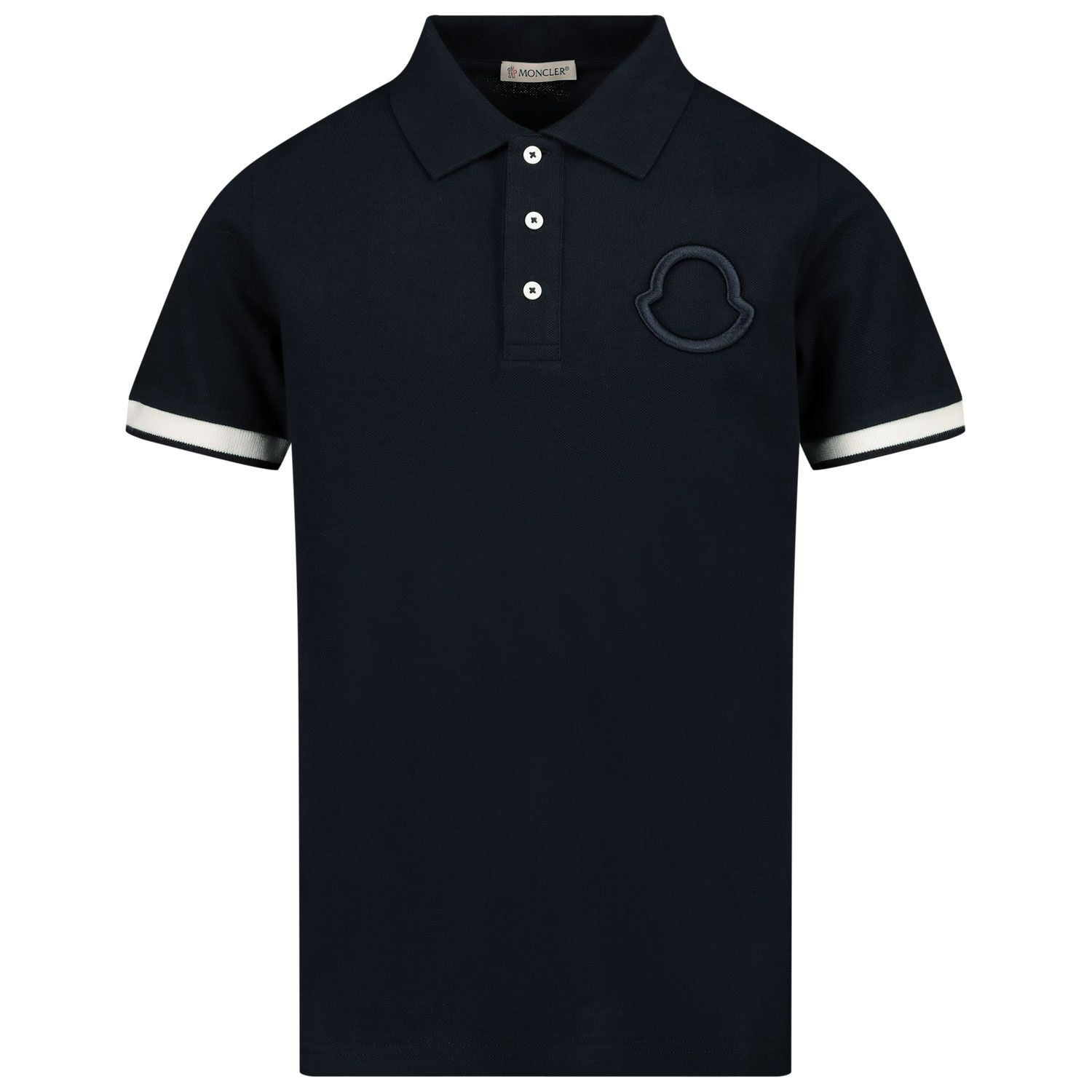 Picture of Moncler 8A71320 kids polo shirt navy