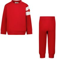 Picture of Moncler 8M76620 baby sweatsuit red