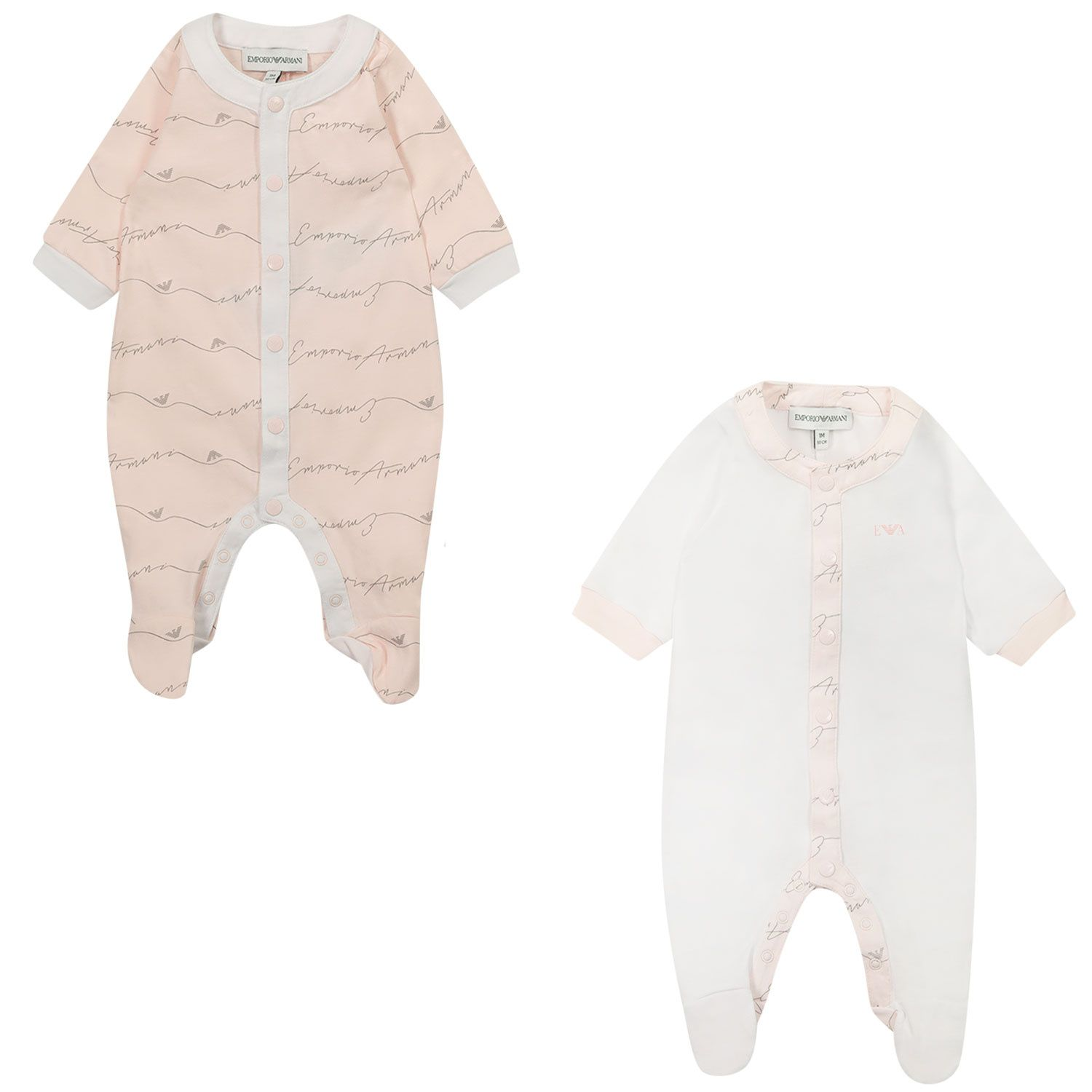 Picture of Armani 8NHV07 baby playsuit light pink