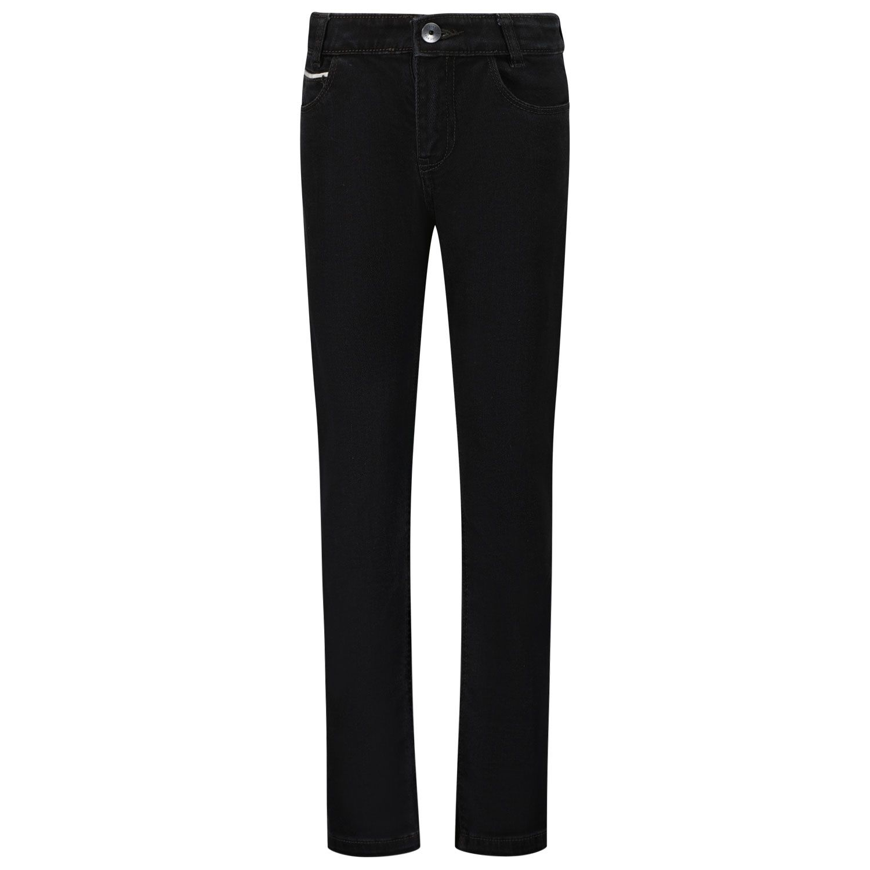 Afbeelding van Boss J24729 kinder jeans zwart
