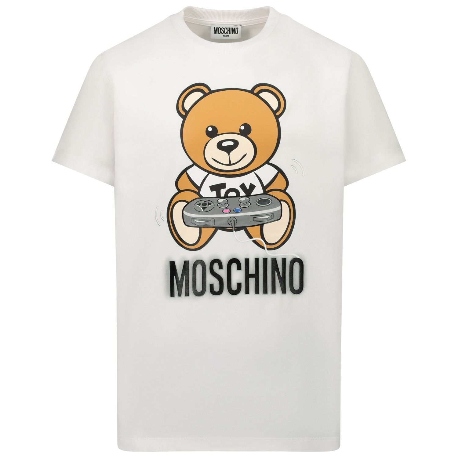 Picture of Moschino HQM02S kids t-shirt white