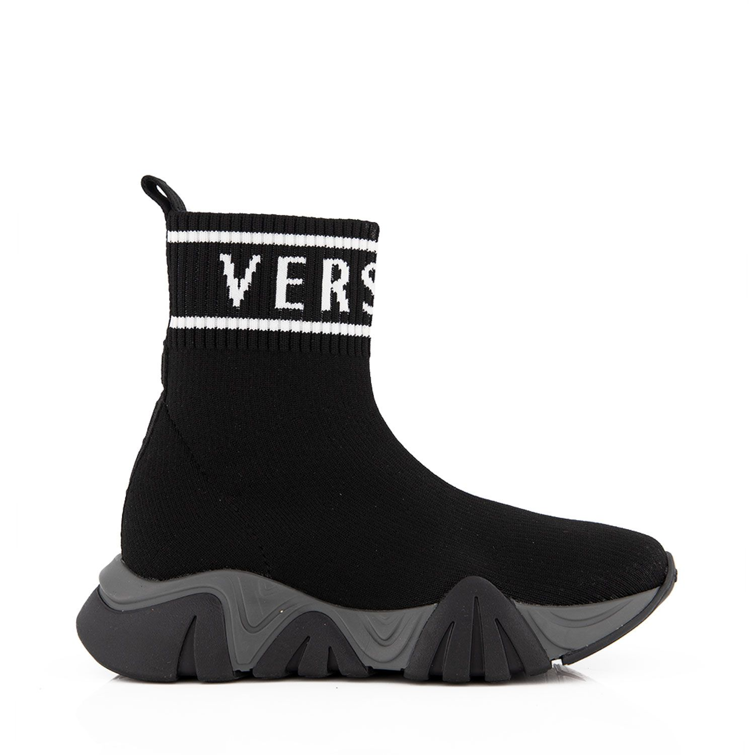 Picture of Versace 1000517 1A00459 kids sneakers black