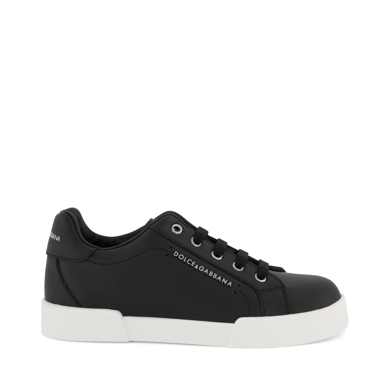 Picture of Dolce & Gabbana DA0724 A3444 kids sneakers black