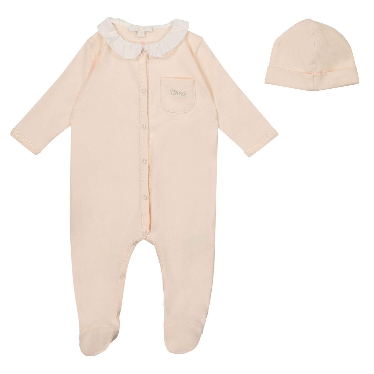 Picture of Chloé C97266 baby playsuit salmon