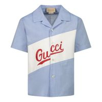 Picture of Gucci 645032 baby blouse light blue