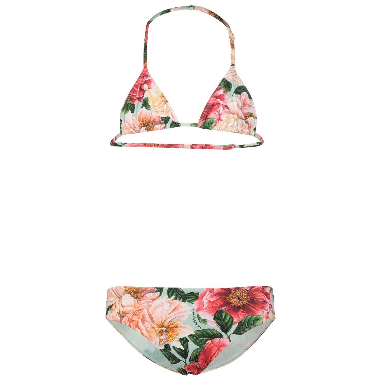 Picture of Dolce & Gabbana L5J813/FSGU0 kids swimwear pink