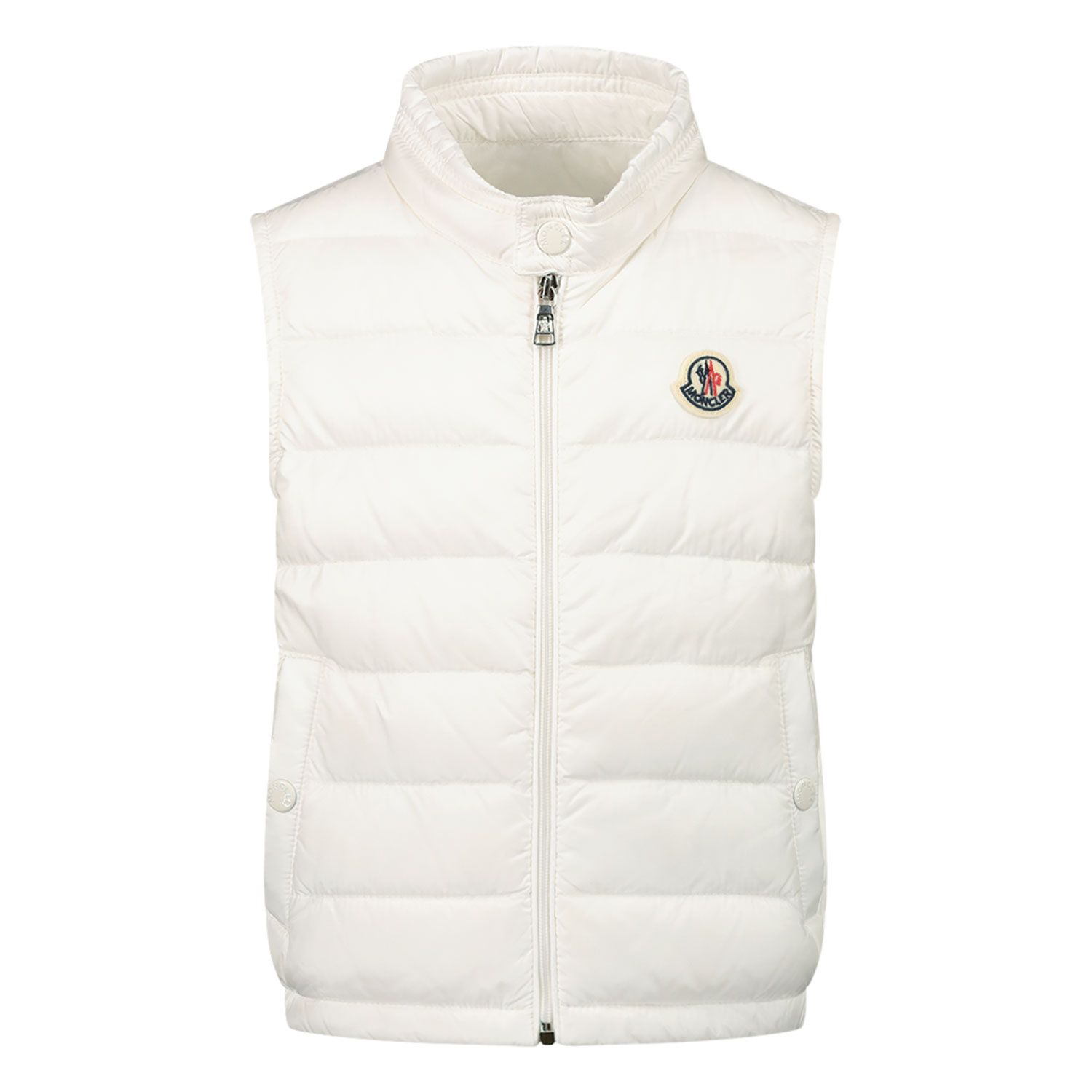 Picture of Moncler 1A10300 baby bodywarmer off white