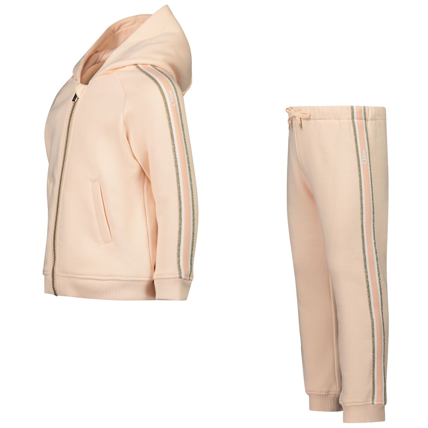 Picture of Chloé C08034 baby sweatsuit light pink