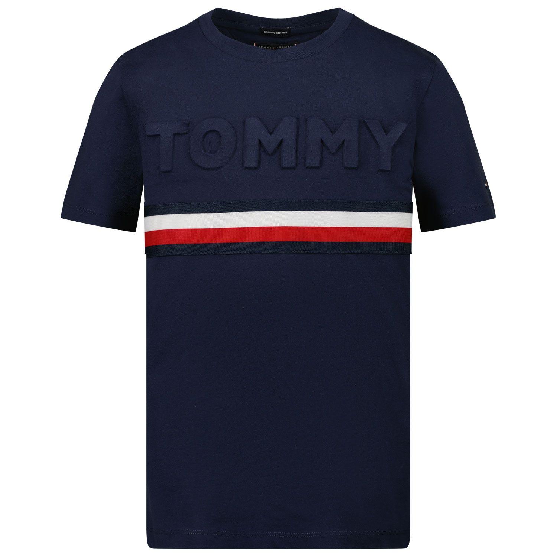 Picture of Tommy Hilfiger KB0KB06320 kids t-shirt navy