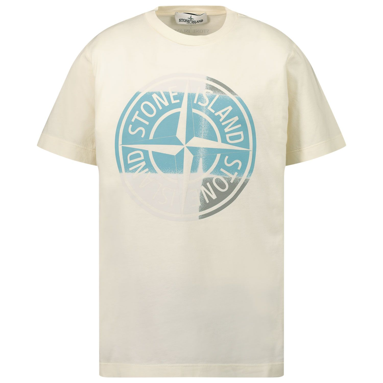 Picture of Stone Island 21052 kids t-shirt off white
