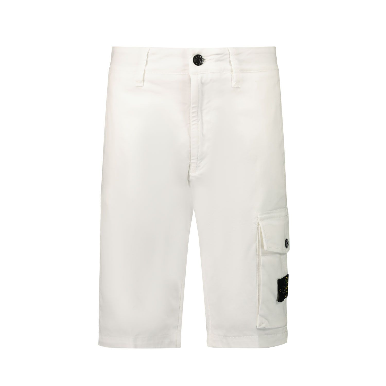 Picture of Stone Island L0412 kids shorts white