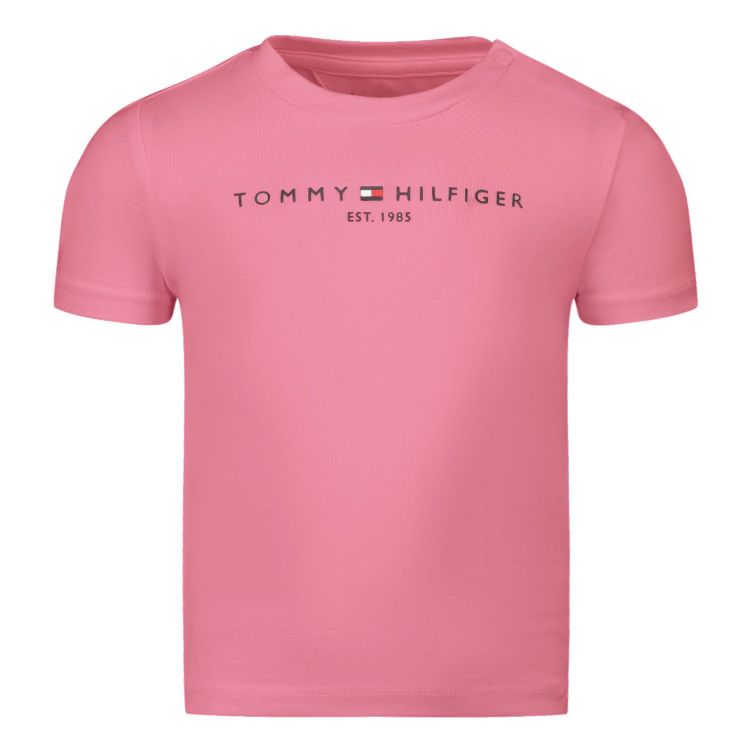 Picture of Tommy Hilfiger KN0KN01293 baby shirt pink