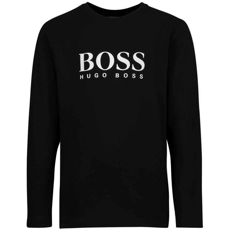 Picture of Boss J25G86 kids t-shirt black
