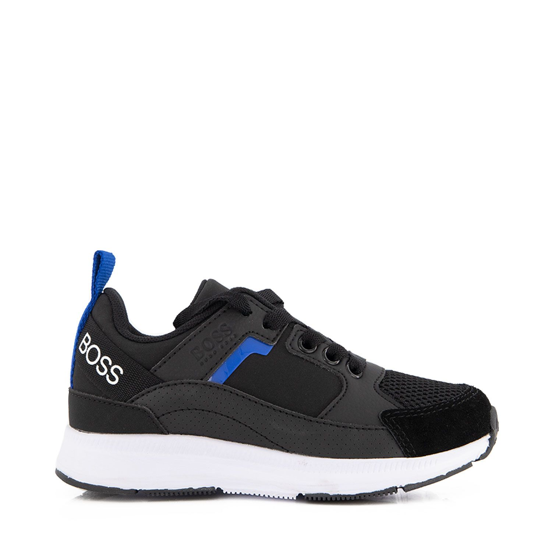 Picture of Boss J29272 kids sneakers black