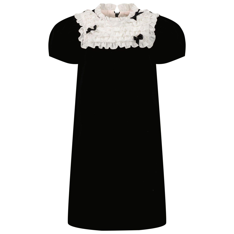 Picture of MonnaLisa 718910 kids dress black