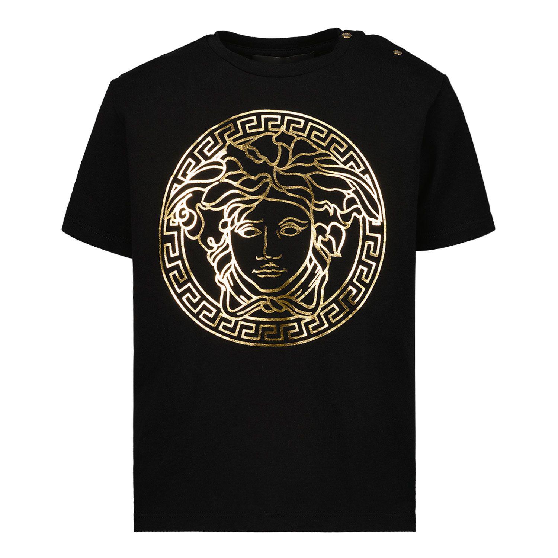 Afbeelding van Versace 1000102 1A00229 baby t-shirt zwart