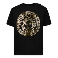 Picture of Versace 1000102 1A00229 baby shirt black