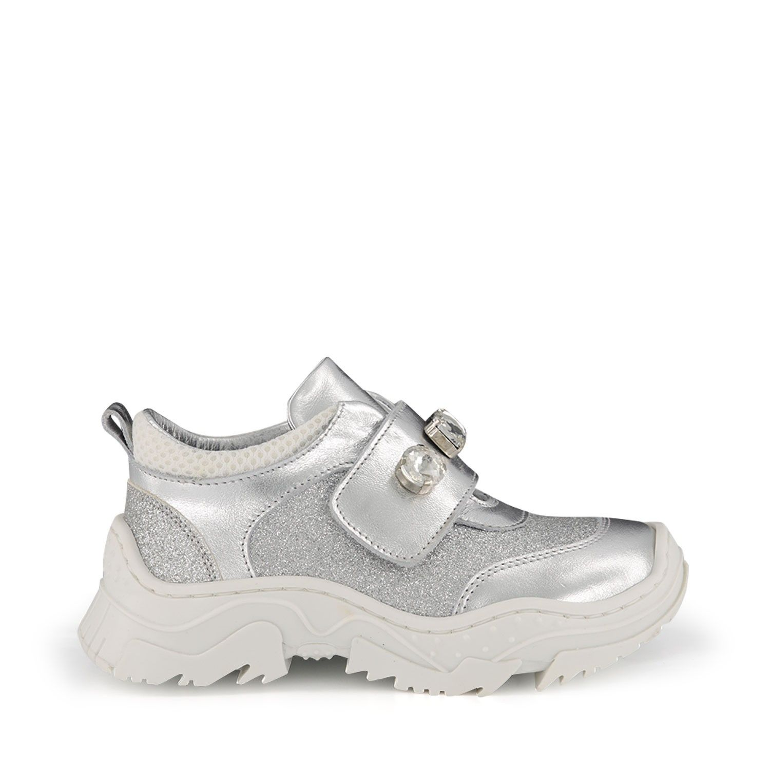 Picture of MonnaLisa 835005 kids sneakers silver